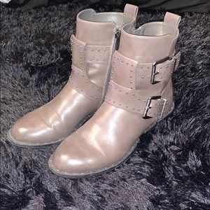 Charles by Charles David Grey Studded Booties